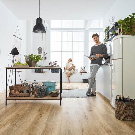 Designboden zum Klicken Rigid #LisbonLoft RLC192W6 Küche Holzoptik Loft Vinylboden