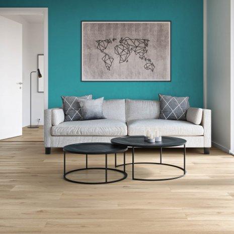 Laminatboden Strong Oak Beige LA175MV4 Couch Sofa Laminat Holzoptik