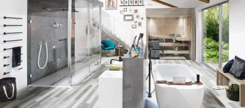 wineo Designboden Badezimmer Holzoptik Verlegemuster
