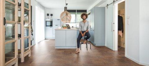 Vinylboden wineo Designboden zum Klicken in der Küche