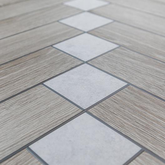 Vinylboden Designboden Akzentstreifen kreative Verlegung