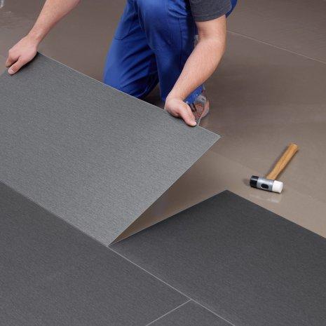 wineo Designboden Grau Klickverbindung Handwerker