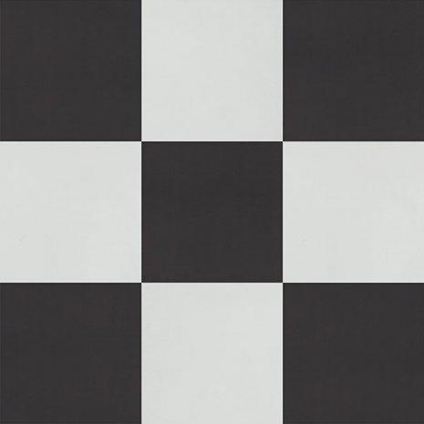 wineo Designboden Verlegekombinationen Muster Vierecke Schwarz Weiß