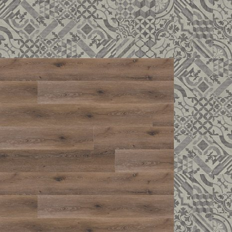 wineo Designboden Verlegekombinationen Muster Vintage und Holzoptik
