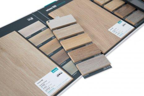 wineo 500 Laminatboden Magnetmusterkarte POS Fußboden auswählen Bodenbelag