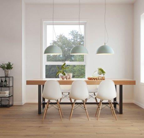 wineo 500 Laminatboden Esszimmer moderne Einrichtung LA176LV4 Strong Oak Brown