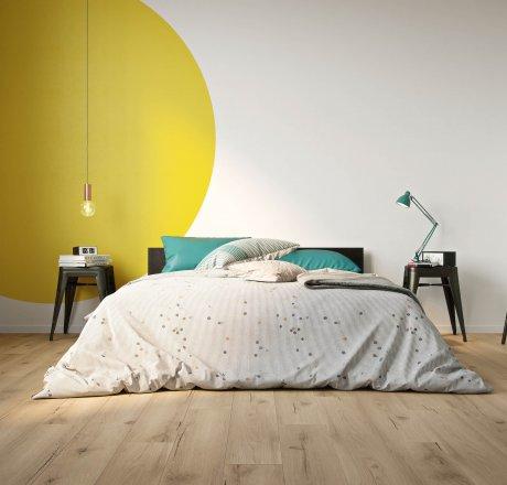 wineo 500 Laminatboden Schlafzimmer Strong Oak Beige LA175MV4