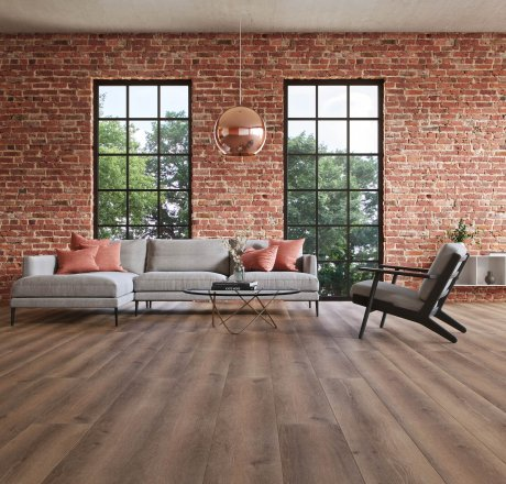 wineo 500 Laminatboden Wohnzimmer Smooth Oak Darkbrown LA167XXLV4