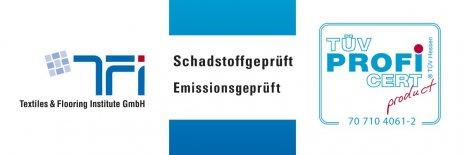 Siegel PURLINE Bioboden TÜV geprüft