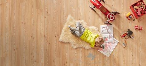 wineo PURLINE Bioboden Kinderzimmer Kind Hund