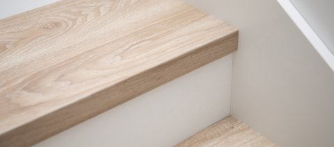 wineo Designboden Treppe Treppenlösung Holzoptik