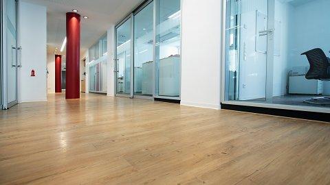 wineo Bodenbelag Flur Büro moderne Einrichtung Holzoptik mittel