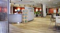 wineo Purline Bioboden Holzoptik hell Restaurant Klinikum