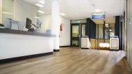 wineo Purline Bioboden Holzoptik Empfang modern hell Klinikum