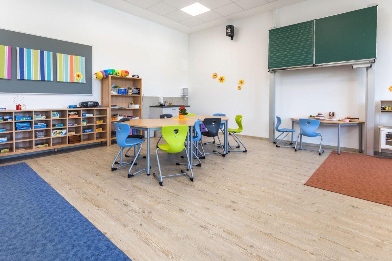 wineo PURLINE Bioboden Schule Kita Klassenzimmer