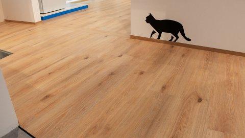 wineo Purline Bioboden Holzoptik Wohnbereich Showroom