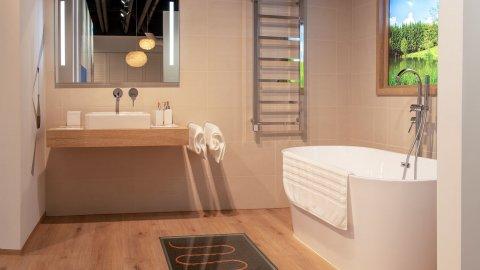W ofercie WINEO są panele do łazienki o podwyższonej odporności na wilgoć.