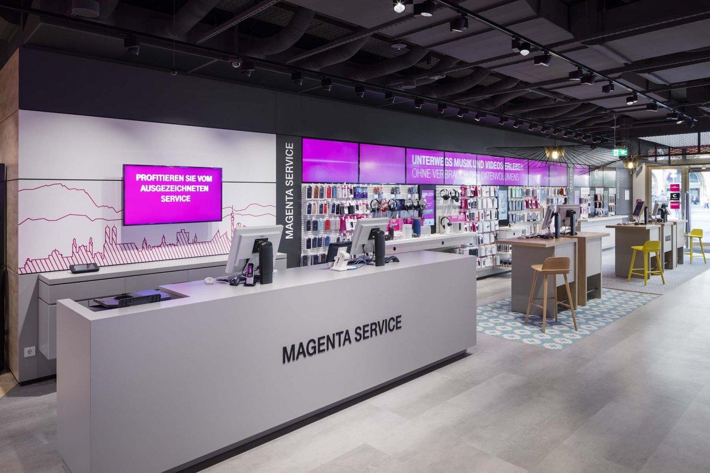 wineo Bodenbelag hell modern Shop Empfang Service